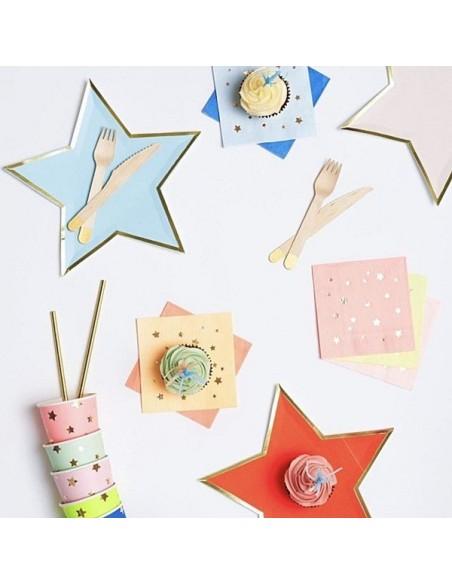 Platos Estrellas de colores