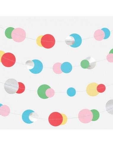 Guirnalda Topos multicolor y Plata