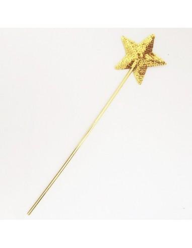 Varita Estrella dorada paillettes