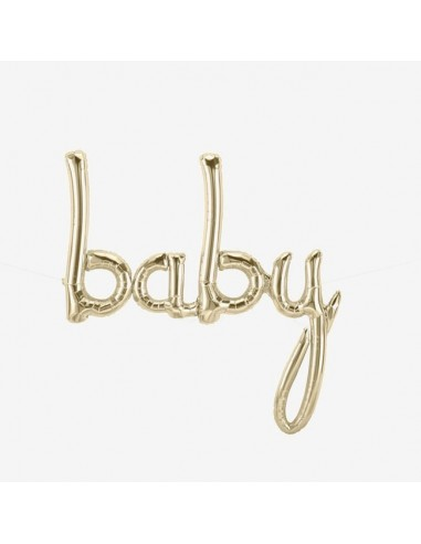"Globo banner ""Baby"" en oro"