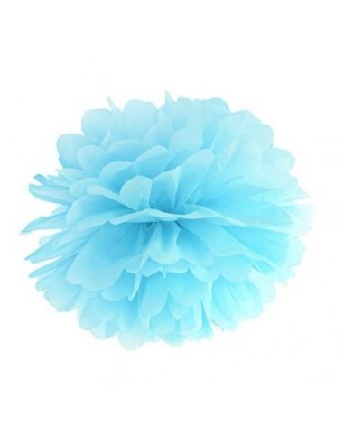 Pompón azul 35 cm