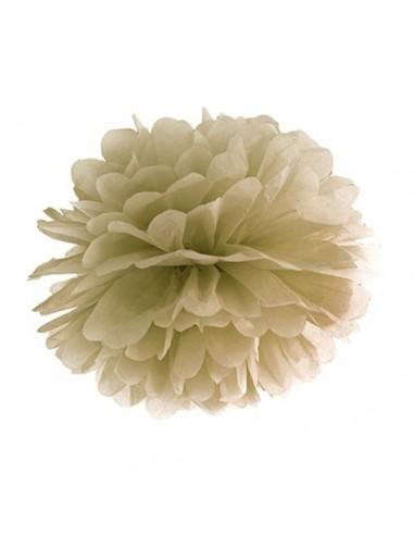 Pompón beige 35 cm