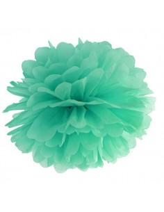 Pompón verde agua 35 cm