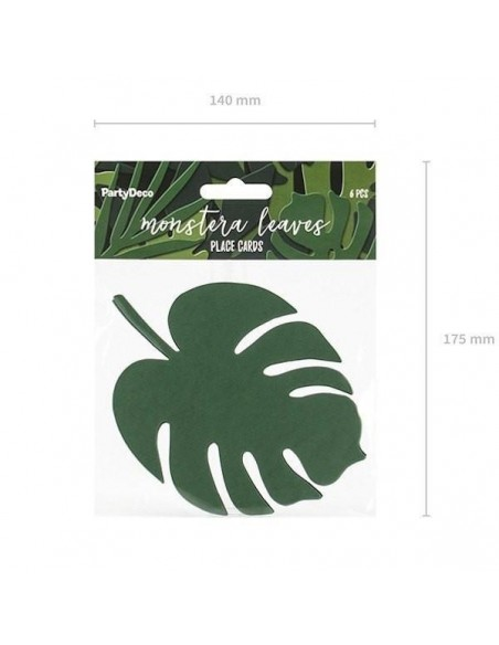 Hojas Monstera tropical de papel