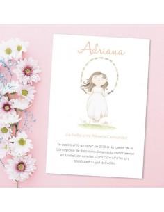 Invitación Comunión niña personalizada