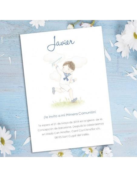 Invitación Comunión niño personalizada
