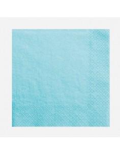 Servilletas azul claro / 20 uds.