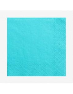 Servilletas azul turquesa / 20 uds.