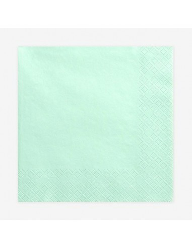 Servilletas de papel mint / 20 uds.