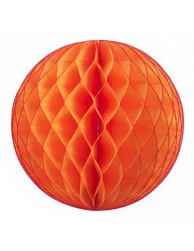 Bola nido abeja 30 cm: Naranja