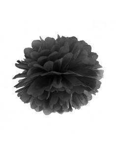 Pompón papel de seda negro 35 cm