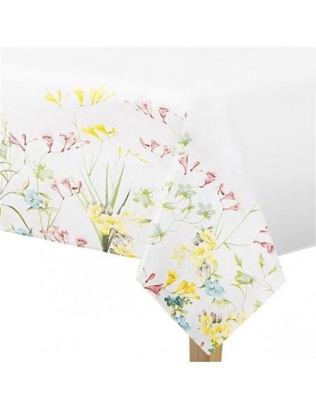 Mantel de papel flores truly