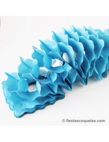 Guirnalda de papel Azul 4mts