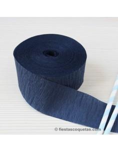 Streamer papel crespon azul navy 23m