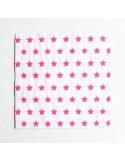 Servilletas estrellas rosa / 20 uds.