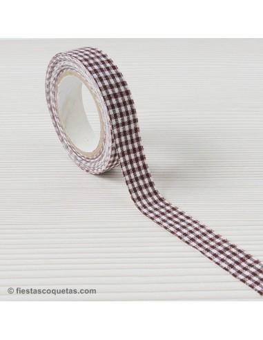 Fabric tape vichy marrón