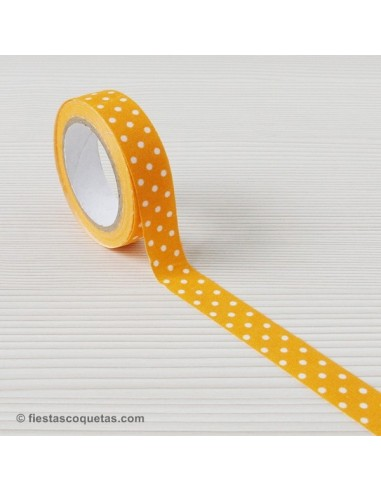 Fabric tape topos naranja