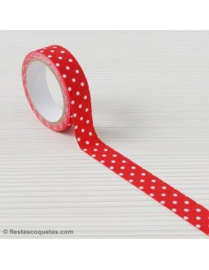 Fabric tape topos rojo