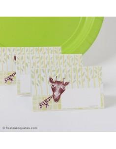 Tarjetas de mesa Animales / 8 uds