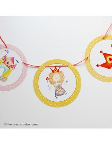 Banderola redonda Princesa