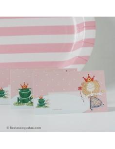 Tarjetas de mesa Princesa / 8 uds