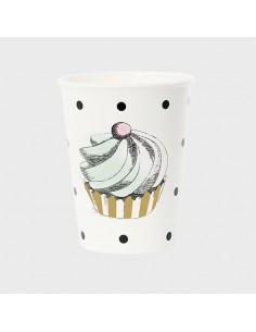 Vasos de papel Sweet Vintage Cupcake