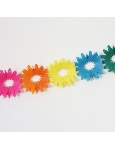 Guirnalda Flores de papel
