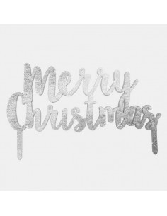 "Topper para Tarta ""Merry Christmas"""
