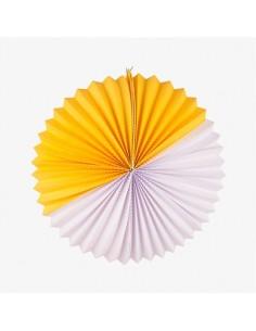 Farol de Papel XL Blanco y Amarillo