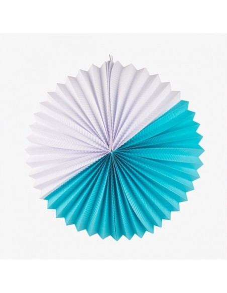 Farol de Papel XL Blanco y Azul