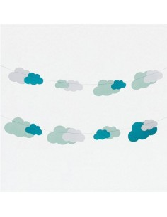 Guirnalda Nubes de Papel Mint