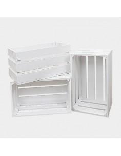 Cajas de Madera Blancas / 3 uds