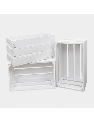 Cajas de madera blancas alquiler for Cajas de madera blancas