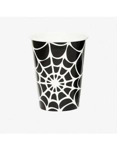 Vasos Tela de araña Halloween / 8uds
