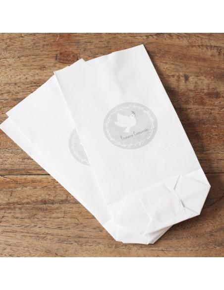Bolsas de papel Blancas Perladas/ 10 uds.