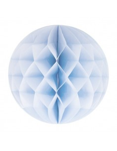 Bola nido abeja 30 cm: Azul claro