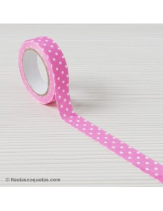 Fabric tape topos rosa