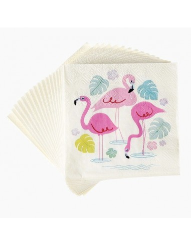 Servilletas Cocktail Flamingo / 20 uds