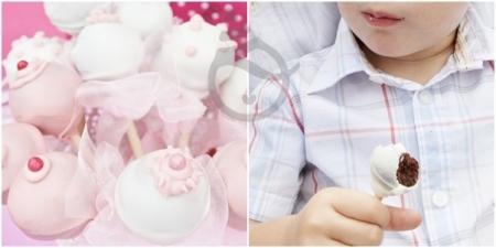 Pop Cakes para una fiesta de Hello Kitty