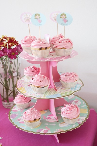 Cupcakes para fiesta infantil de princesas