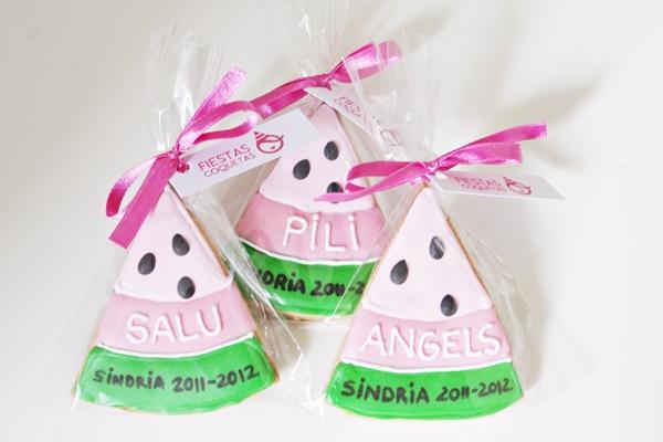 galletas decoradas sandia