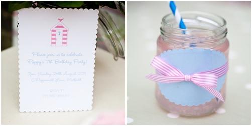 Detalle etiquetas de la mesa de dulces