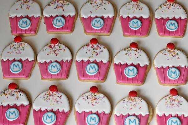 Galletas Decoradas Con Forma De Cupcakes.