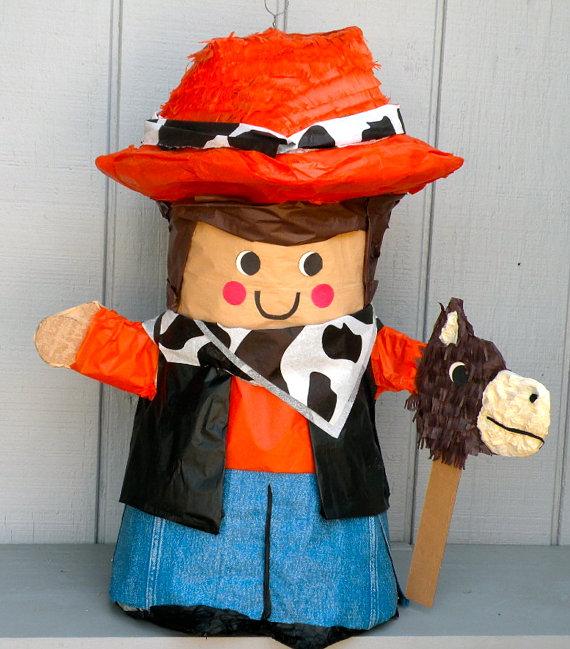 Piñata cowboy oeste