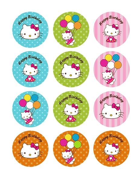 Hello cupcake topper template 28 images hello cupcake for Hello kitty cupcake topper template