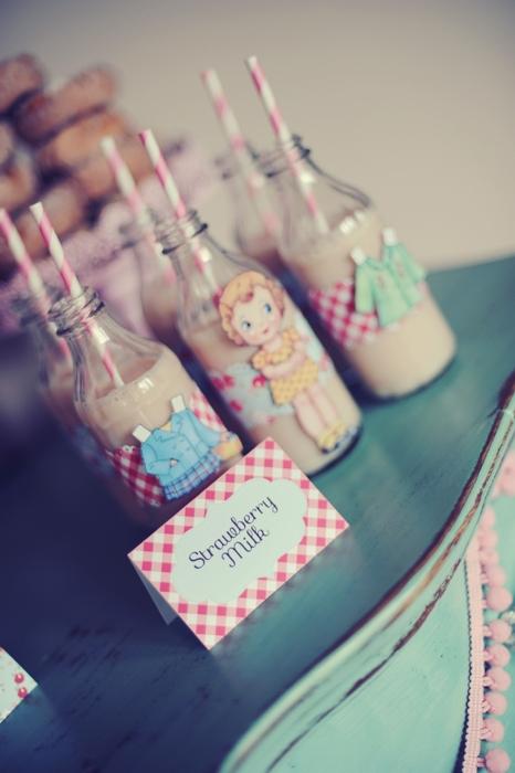 Fiesta infantil vintage muñecas de papel