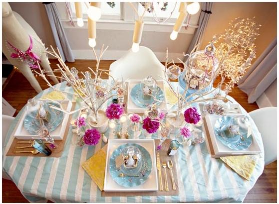 Ideas para decorar la mesa de navidad i fiestas coquetas for Ideas para decorar la mesa de navidad
