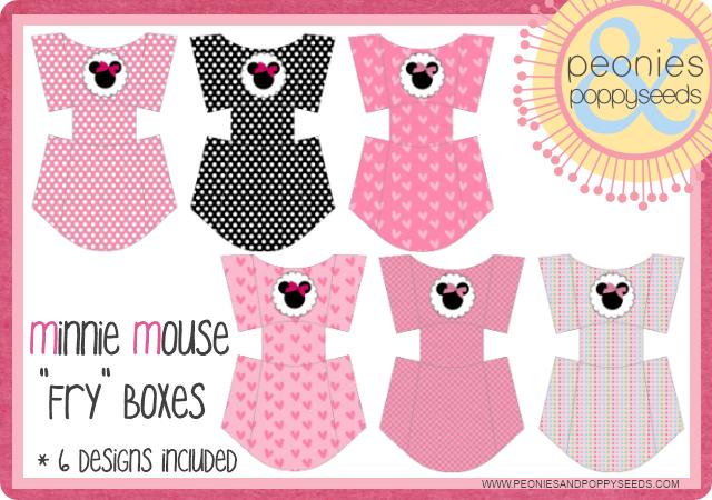 Kit de fiesta imprimible gratuito de minie mouse