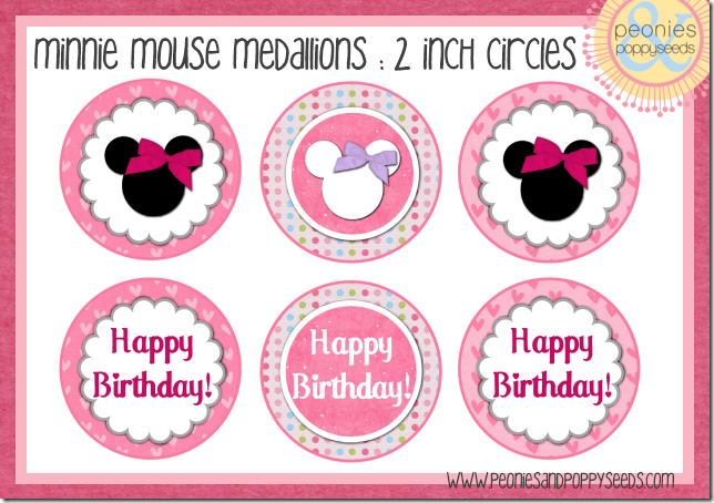 Kit de fiesta gratuito imprimible de minnie mouse