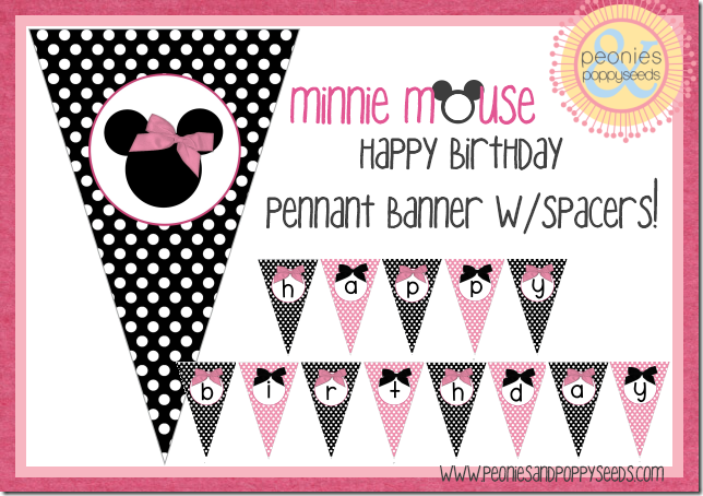 kit Imprimible Gratuito para fiestas de Minnie Mouse. - Fiestas ...